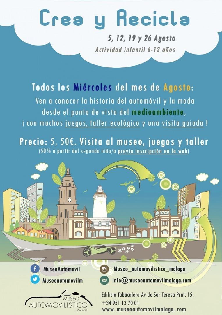 """En agosto """"Crea y Recicla"""" en el Museo Automovilístico"""