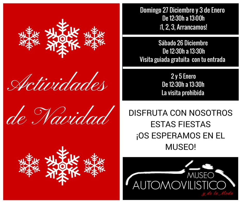 ¡Actividades Navideñas en el Museo Automovilístico y de la Moda de Málaga!