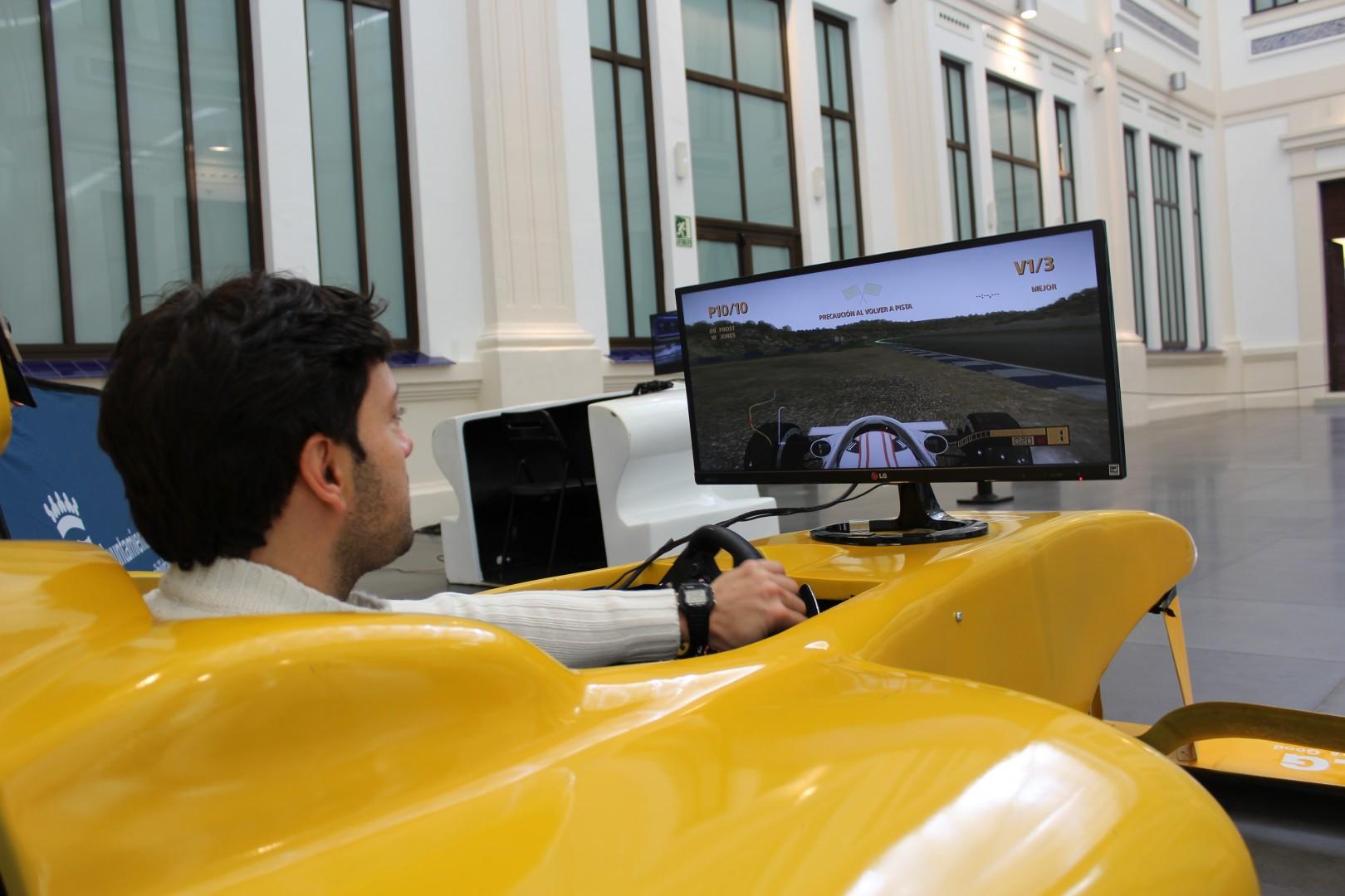 El MAM participa en la Semana de la Discapacidad con un Simulador de Fórmula 1