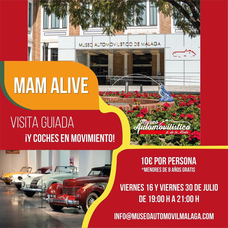 «MAM ALIVE» presenta los coches del Museo en movimiento
